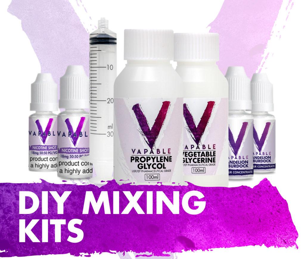 Diy mixing kits for vaping