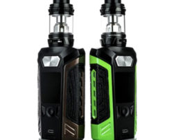 Vaporesso Switcher Kit 3/4 views of the green and brown versions