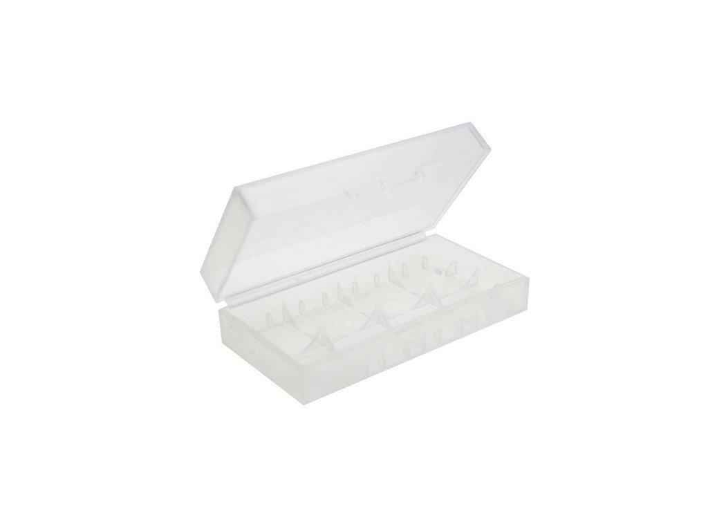 Dual-18650-Plastic-Battery-Case